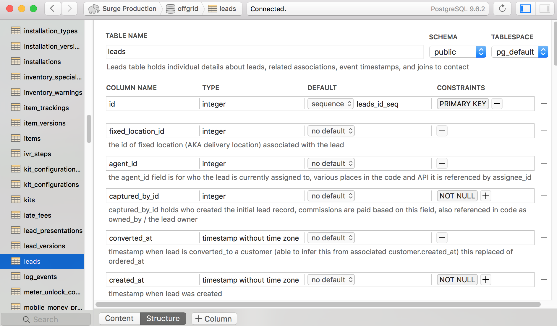 database documentation tool postgres